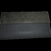 Christian Dior Grey Snake Skin and Leather Vintage Wallet