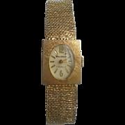 Vendome 7 Jewels Wrist Watch Gorgeous Ladies Vintage Timepiece Mesh Gold Band Bracelet