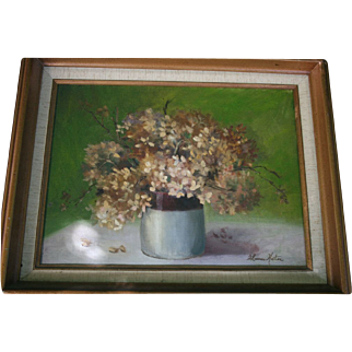 Beautiful Floral Still Life Oil Painting on Canvas