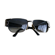 Mens Givenchy Hammered Metal Modernist Vintage Sunglasses
