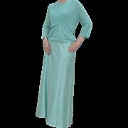 Couture Sz L  Mint Green  Ball Gown Skirt Beaded Sweater 3 Pc Ensemble Carmen Marc Valvo