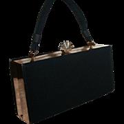 Evans Elegance Box Purse Evening Handbag Shell Clasp