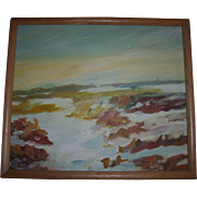 Southwest Impressionist Landscape Oil Painting Signed Peacock