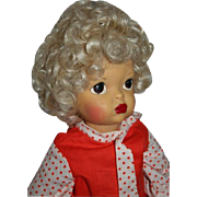 "16"" Pat Pending Terri Lee Doll Head Full of Blonde Curls Painted Face"