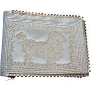 Vintage 1950s Poodle Dog Silk Wallet