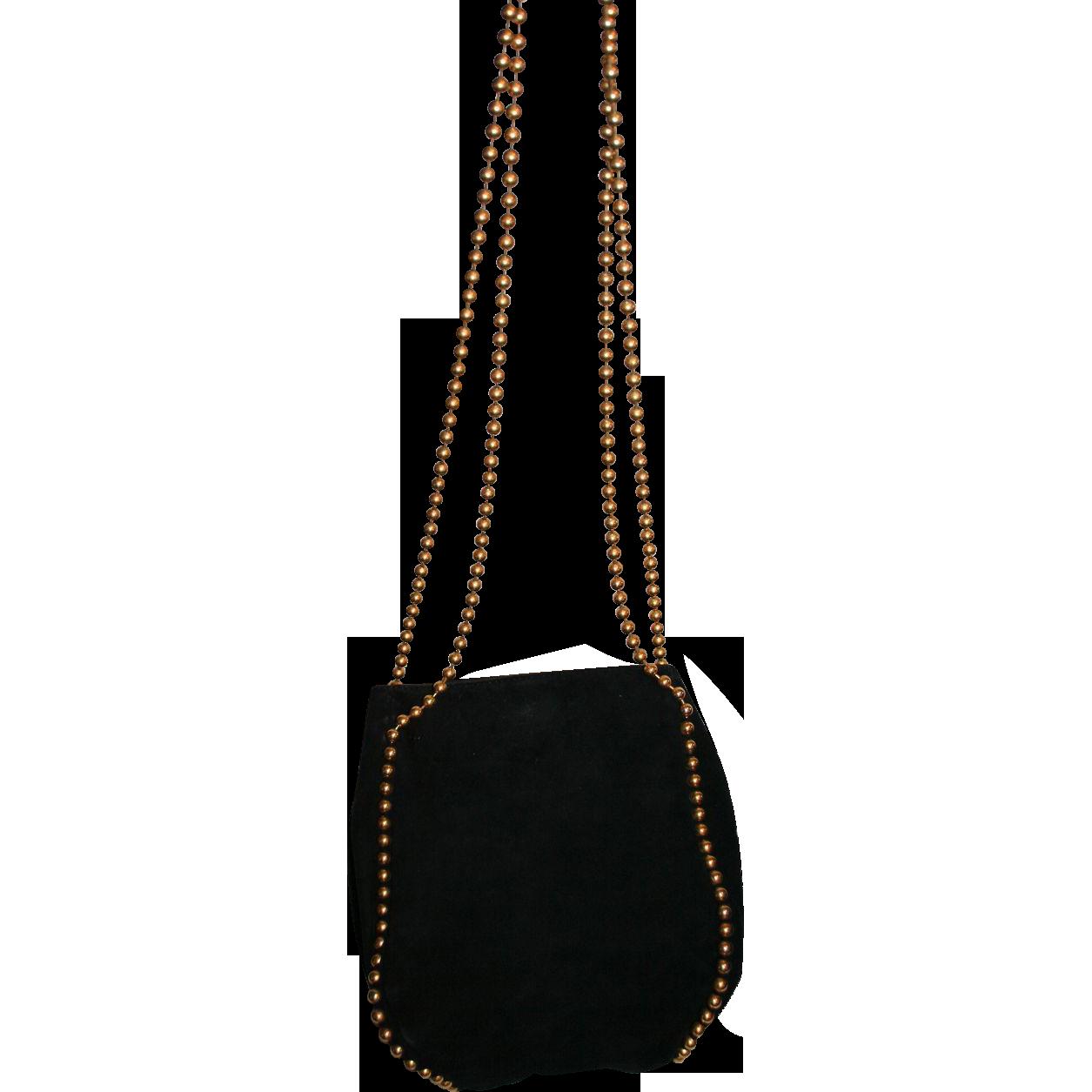 Gorgeous De V Hamilton Hodge Exquisite Vintage Black Soft Suede Greta S Gallery Ruby Lane