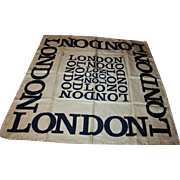 Iconic London Vintage Silk Scarf by Harrods