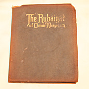 Rubáiyát of Omar Khayyám Suede Cover 1930s Book Beautiful