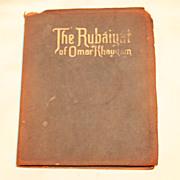 Rubáiyát of Omar Khayyám Suede Cover 1930s Book Beautiful