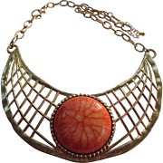 Egyptian Revival Cleopatra Choker Collar Bib Necklace