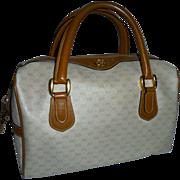 Vintage Gucci Gorgeous Doctor Bag Cream & Tan Boston Bag