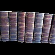 Washington Irving 1881 Antique Book Set Leather Bound