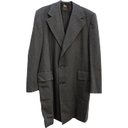 MINT Mens Vintage Hart Schaffner & Marx Light Weight Wool Top Coat