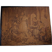 Antique Framed Signed Tapestry after Sir Edwin Lanseer