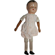 Vintage Composition Wooden Head Limbs Doll
