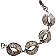 Sarah Coventry Silver Tone High Fashion Bracelet