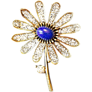 ART Circa 1950-60's Gold Tone Flower Brooch