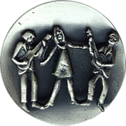 Handcrafted Folk Singers Trio Brooch