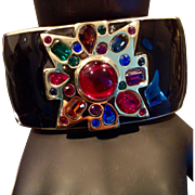 Kenneth Lane Fabulous Jeweled Cuff Bracelet