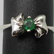 Vintage 14kt Emerald Ring; FREE SIZING.