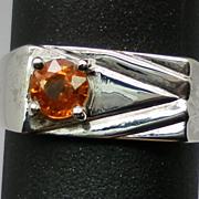 Vintage 14kt Mandarin Garnet Men's Ring; FREE SIZING