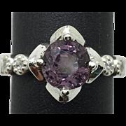 14k Purple Spinel & Diamonds Ring, FREE SIZING.