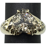 14k Yellow Gold, Imperial Topaz Ring.