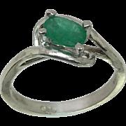 14k Emerald Ring, W-Y-R, Free Sizing