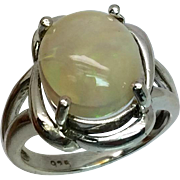 Ethiopian Opal Silver Ring, Free Sizing.