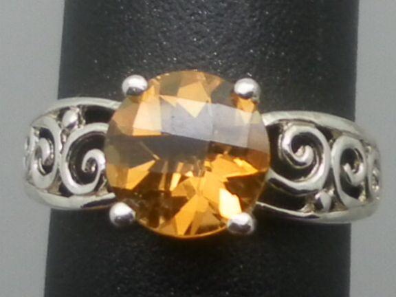 Vintage 14kt Citrine Ring; FREE SIZING.