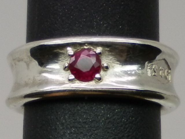 Natural Ruby Silver Ring available in all sizes from 3 to 13.