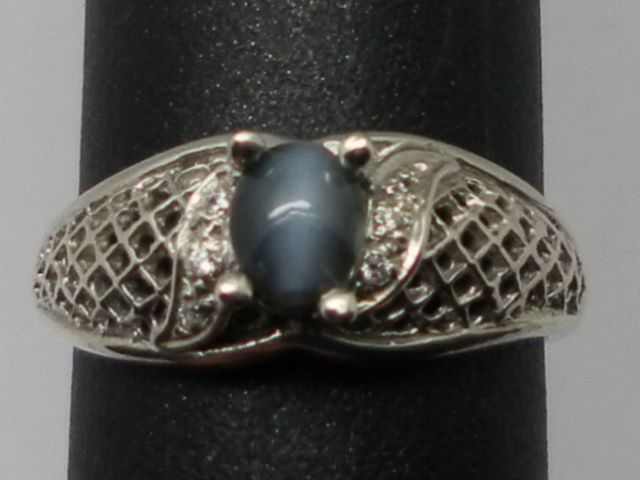 Vintage 14kt Cat's Eye Alexandrite & Diamonds Ring.