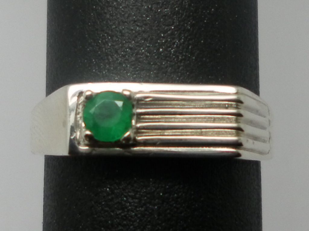 Vintage 14kt Emerald Men's Ring; FREE SIZING