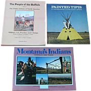 NATIVE AMERICAN  BOOKS: TIPIS, PEOPLE OF THE BUFFALO, MONTANA'S INDIANS