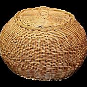 Native American Indian Cherokee Signed Treasure Basket