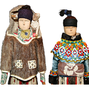 Native American Indian or Greenland Inuit Family of Dolls