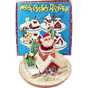 MUSICAL SANTA CLAUS CHRISTMAS DECORATION AND ORIGINAL BOX