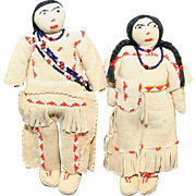Native American Indian Northern Plains Pair Of Dolls