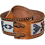 Native American Indian Osage Man's Beaded Dance Belt