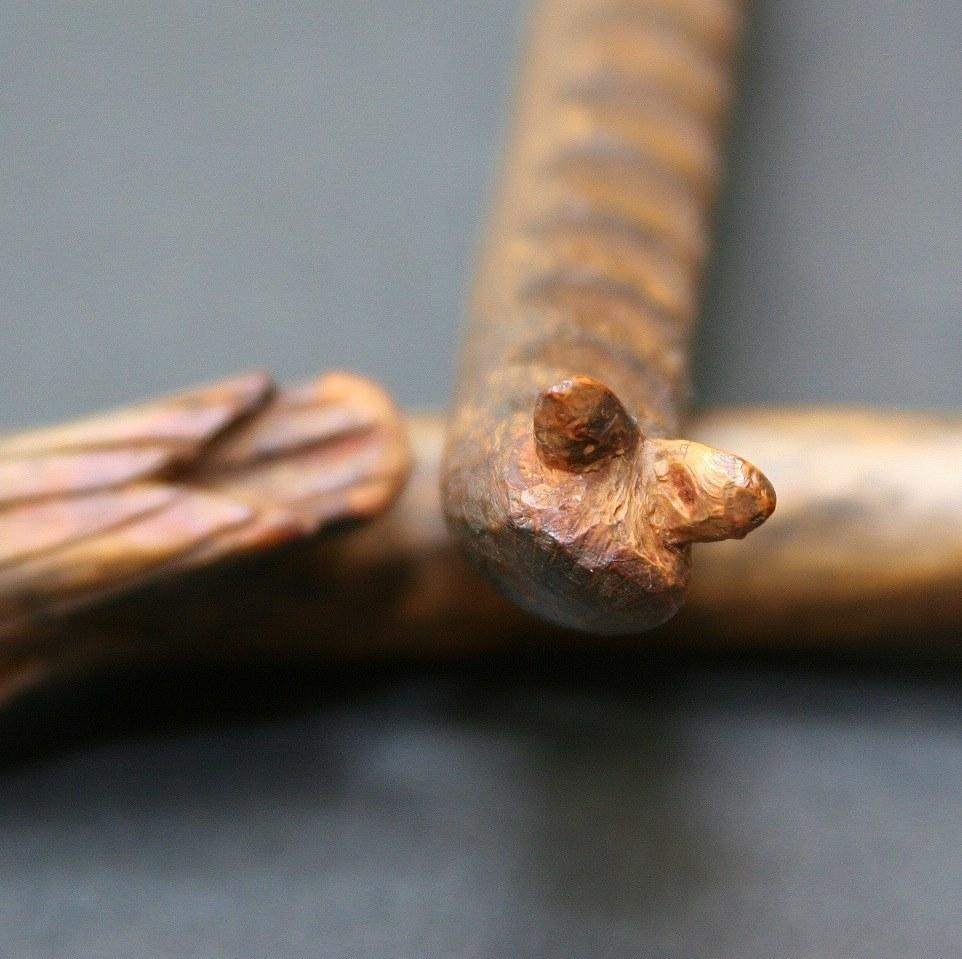 Antique Native American Musical Instrument Effigy Rasps