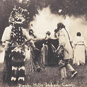 Real Photo Postcard Native American Sioux Indians by O'Neill