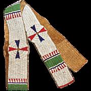 Native American Warriors Beaded Blanket Strip