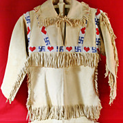 Native American Boy's Beaded Buckskin Shirt and Pants