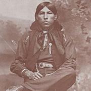 NATIVE AMERICAN INDIAN REAL PHOTOGRAPH OSAGE MAN