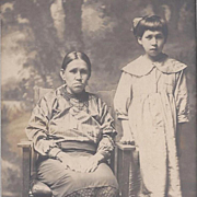 Photograph Native American Osage Mother and Daughter