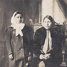 Native American Real Photograph Postcard of Two Osage Sisters - Red Tag Sale Item