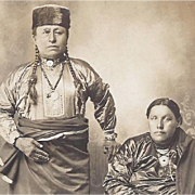 Native American Indian Photograph of Osage Couple