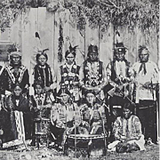 Native American Indian Photograph of Osage War Dancers