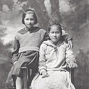 Native American Indian Photographs of Young Osage Girls