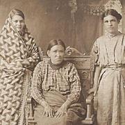 Native American Indian Photograph Three Women